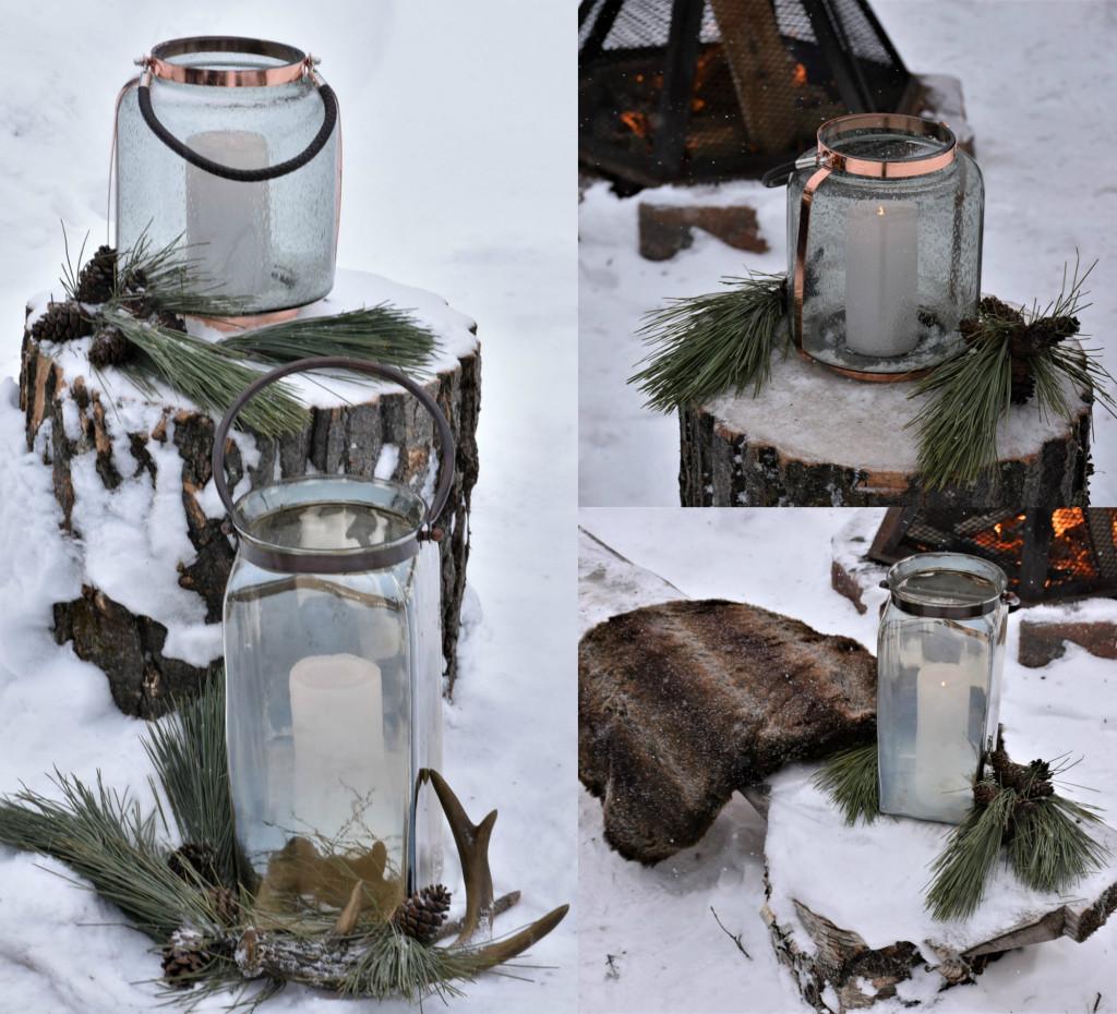 collage lanternes hiver